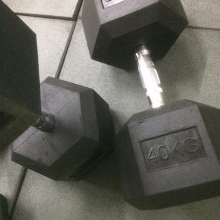ラバーヘックスダンベル 25kg 2個