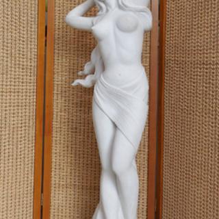 大理石 彫刻 女性像 裸像 全長120cm 重量有 西洋オブジェ...