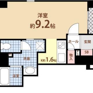 日本橋4分 家賃35,500円 共益費3,800円 29.17㎡