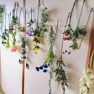 装飾に☆お花のガーランド