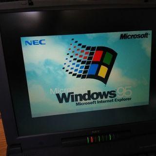 ノートパソコン:NEC:Windows'95:中古:送料込み