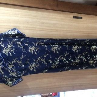 美品!青いチャイナドレス(Lサイズ)