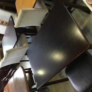 札幌市内送料1000円☆メーカー記載なし ダイニングテーブル キズあり