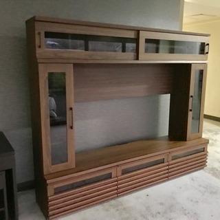 【リサイクルサービス八光 配達設置OK】壁面収納 60v型TV 対...