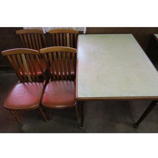 (C) 4人用 キッチンテーブル 1台 椅子 4客  ダイニングセ...