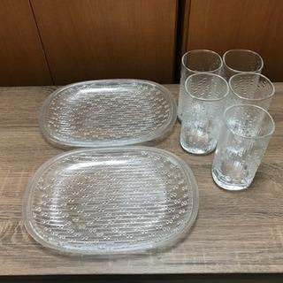 夏のガラス食器セット