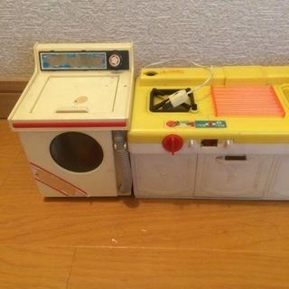 3,000円 レア!昭和レトロ TAKARA キッチン&洗濯機 ...