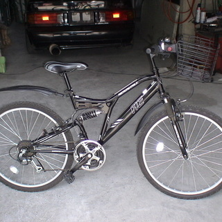 値下げ 美品 使用少 マウンテンバイク 自転車 前かご前後サスペ...