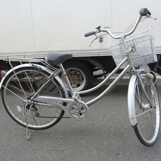 札幌 自転車 ママチャリ 26インチ 6段変速 切替 カギ付き ...