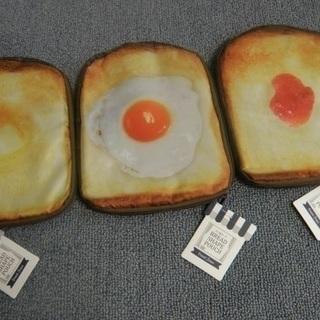 リアルプリント スクエア型 食パン ポーチ 3点セットをお譲りします。