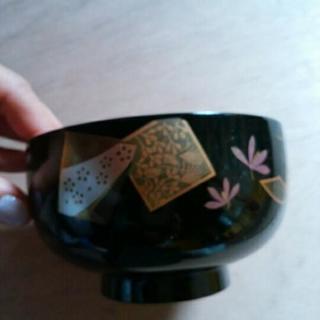 会津塗の味噌汁茶碗5個セット。