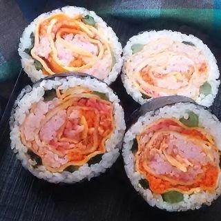 9月16日 バラの飾り巻き寿司