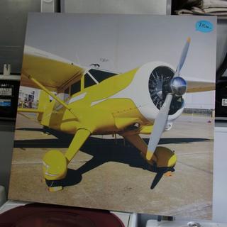南12条店 大型アートパネル 80×80cm 飛行機 インテリアに
