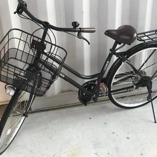 軽快26型自転車◇6段変速◇シティサイクル◇前カゴ付