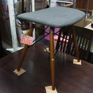 南12条店 スツール 座面 布 グレー 脚 木製 かわいい オシャレ