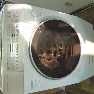 R 中古 SHARP ドラム式洗濯乾燥機(10kg) 左開き 高濃...
