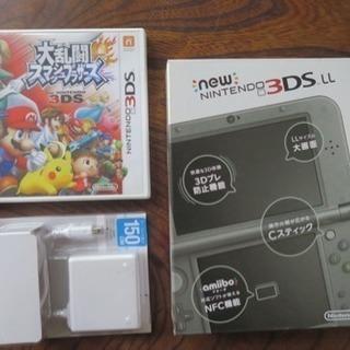 【利用3回のみ】3DS LL+大乱闘スマッシュブラザーズ+充電ケーブル