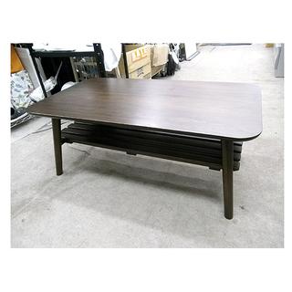 札幌【折りたたみテーブル】棚付き コーヒーテーブル 折り畳みテーブ...