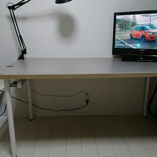 イケアのテーブル(LINNMON 幅150cm) PLUS製デスク...