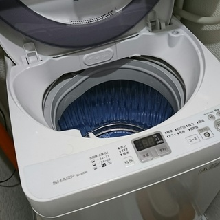 シャープ製ステンレス層 縦型洗濯機「ES-GE55N」