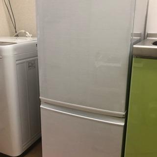【美品】SHARP 冷蔵庫 2ドア 135L シルバー 引取限定