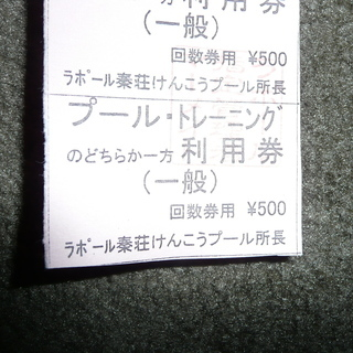 ラポール秦荘けんこうプール プール・トレーニング利用券(一般)回数...