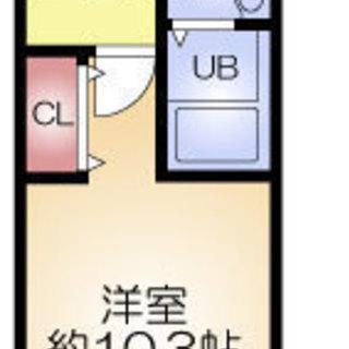 福島駅 歩5分  家賃35000円 共益費8000円 30㎡