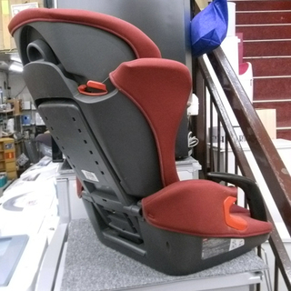札幌 ジュニアシート 赤 チャイルドシート 背もたれ取れます 自動車用品 - 札幌市