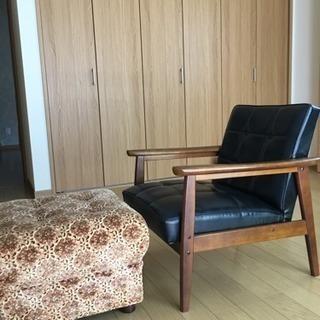 ソファー、足置き台