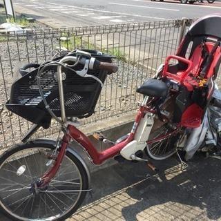 3人乗り電動アシスト自転車 (レッド)