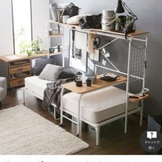 lowyaシングフベッド、テーブル付き、半年使用