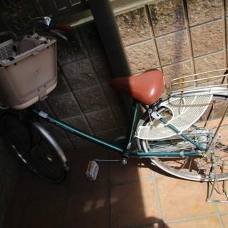 中古 子乗せ自転車 フラッカーズ 24・26インチ 緑 グリーン ...