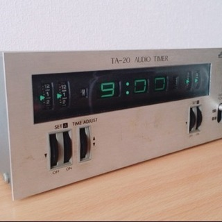 可動品レトロVictorオーディオタイマー時計