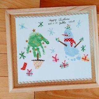 手形アート【大阪から2駅JR尼崎】12月5日クリスマスモチーフ