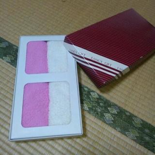紅白のタオル
