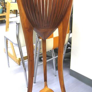 手稲リサイクル  花台 フラワースタンド  スリム ウッド ¥2,000