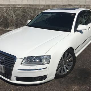 A8 4E 17年式 ホワイト 4.2 SR 黒革 車検満タン