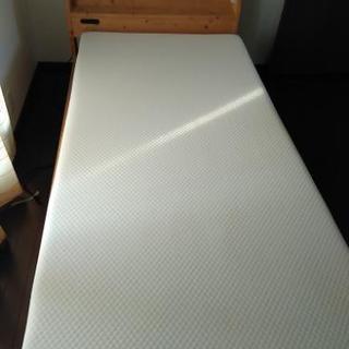 桧シングルベッド、低反発マットレスセット