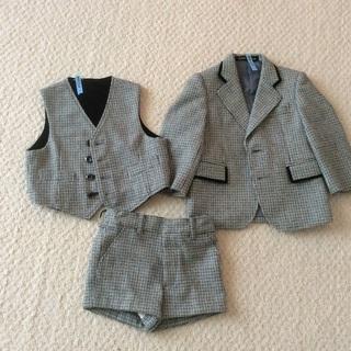 95サイズ 男児フォーマルジャケット、ベスト、ズボン