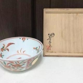美品!!古※永楽妙全 赤絵菓子鉢 「本物保障」