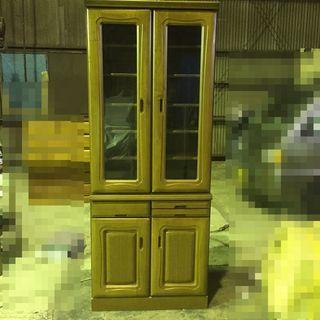 食器棚 2段組み合わせ キッチン収納 収納家具 BROWN ナチュ...