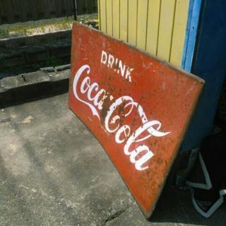 大型 コカ・コーラ 看板 ホーロー看板 店頭用