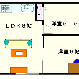 【平田ビル】2LDKタイプ!大国町駅まで傘要らず!!