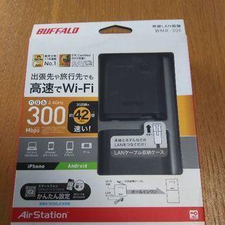 未使用、BUFFALO 無線LAN親機 ブラック WMR-300/S