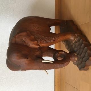 マンモスの置物 木製