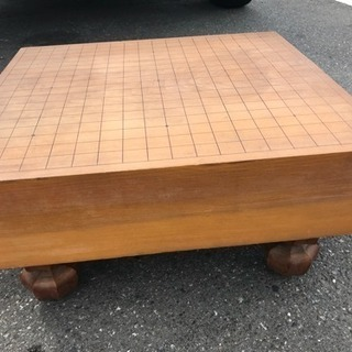 囲碁盤セット 足付き