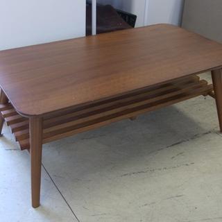 南12条 折りたたみテーブル コーヒーテーブル ローテーブル ブラ...