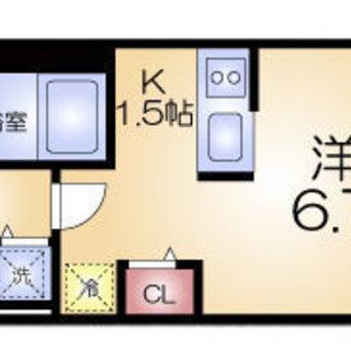 桜川4分 家賃22500円 共益費8500円 23.2㎡