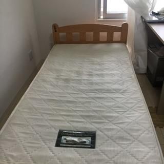 中古シングルベッド    差し上げます0円