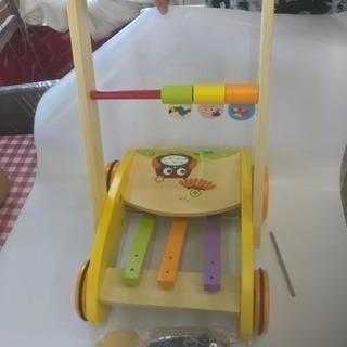 木製赤ちゃん用 手押し車